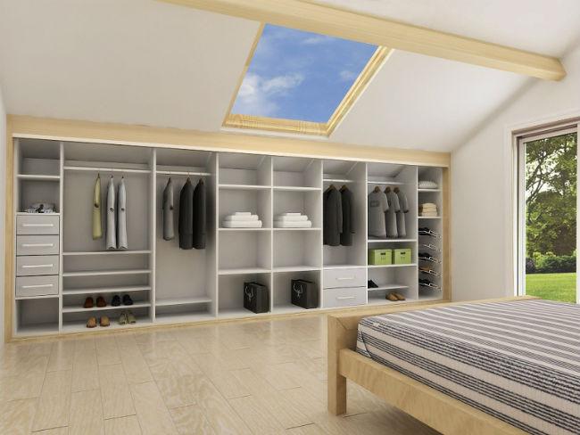 Вдохновляющие идеи обустройства спальни на мансарде