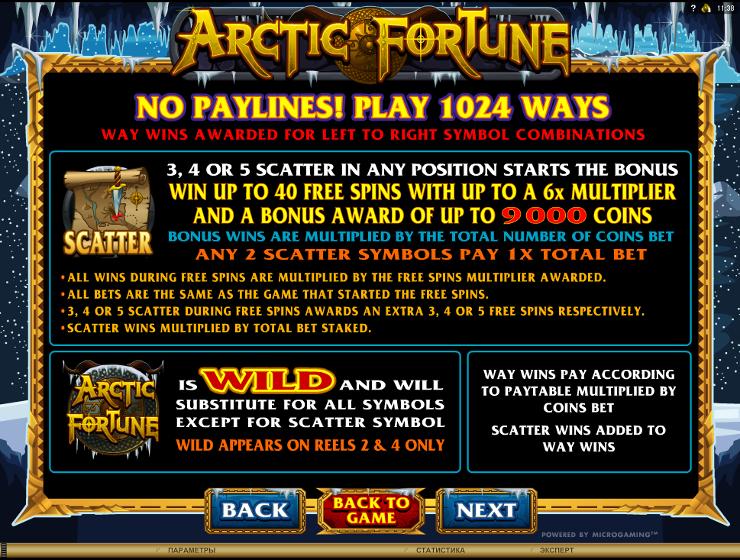 Игровой автомат Arctic Fortune - призы и сокровища для настоящих викингов