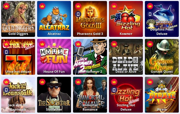 Играть в онлайн игровые видеослоты в онлайн казино Slots-Doc-com