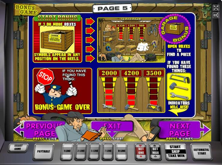 Игровой автомат Garage - большие выигрыши и постоянные бонусы ждут игроков