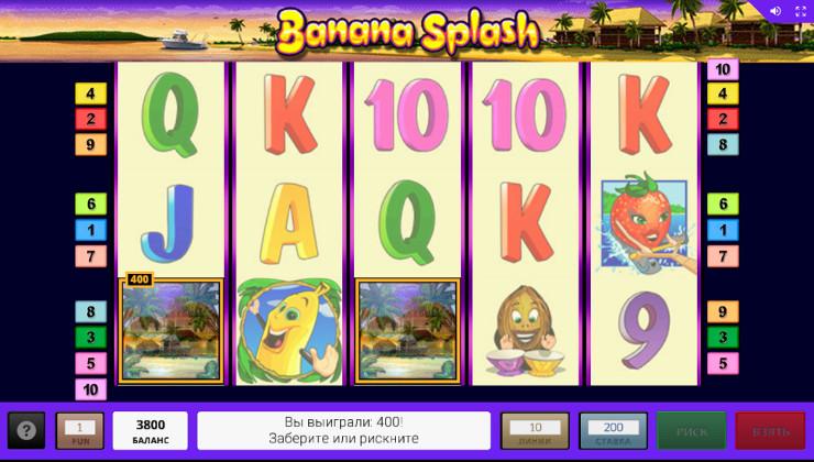 Игровой автомат Banana Splash в казино Вулкан Вегас - как правильно играть на деньги