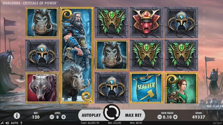 В казино Вулкан Платинум играть в автомате Warlords: Crystals of Power от NetEnt