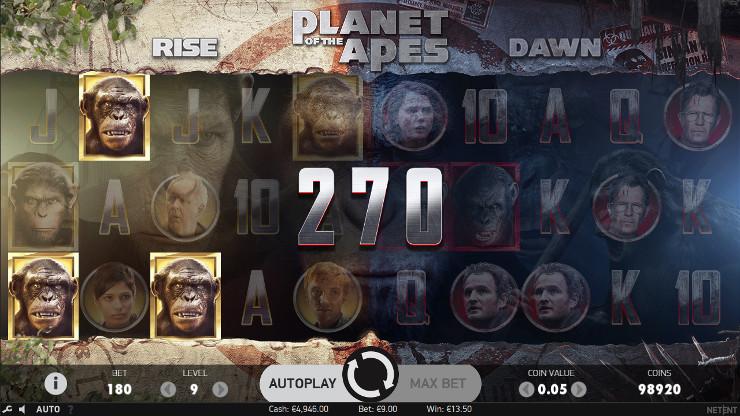 Игровой автомат Planet of the Apes - в Вулкан Россия казино побеждай в слоты от NetEnt