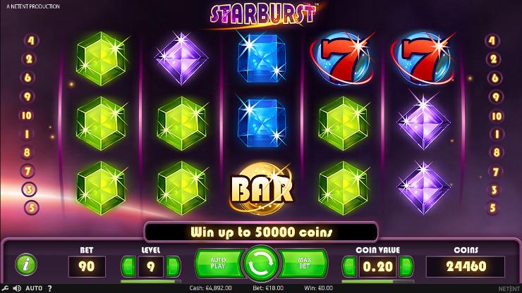 Игровой автомат Starburst - регулярно играй и выиграй в Вулкан Платинум казино